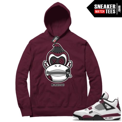 PSG 4s Sneaker Match Hoodie Misunderstood x Donkey Kong Maroon