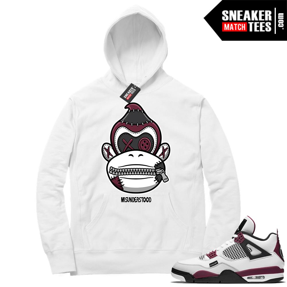 PSG 4s Sneaker Match Hoodie Misunderstood x Donkey Kong White