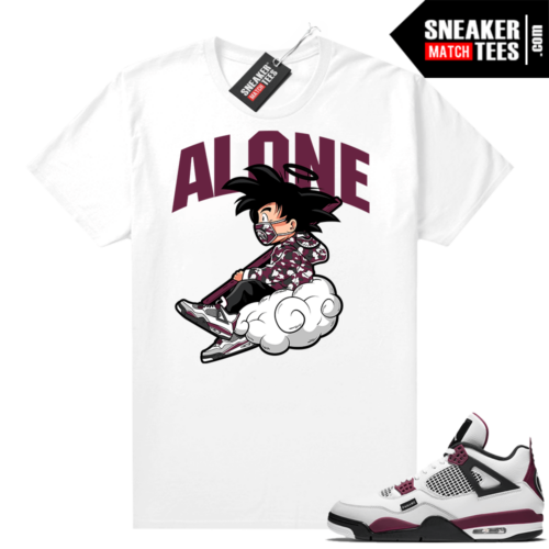 PSG 4s Sneaker Match Tees Alone White