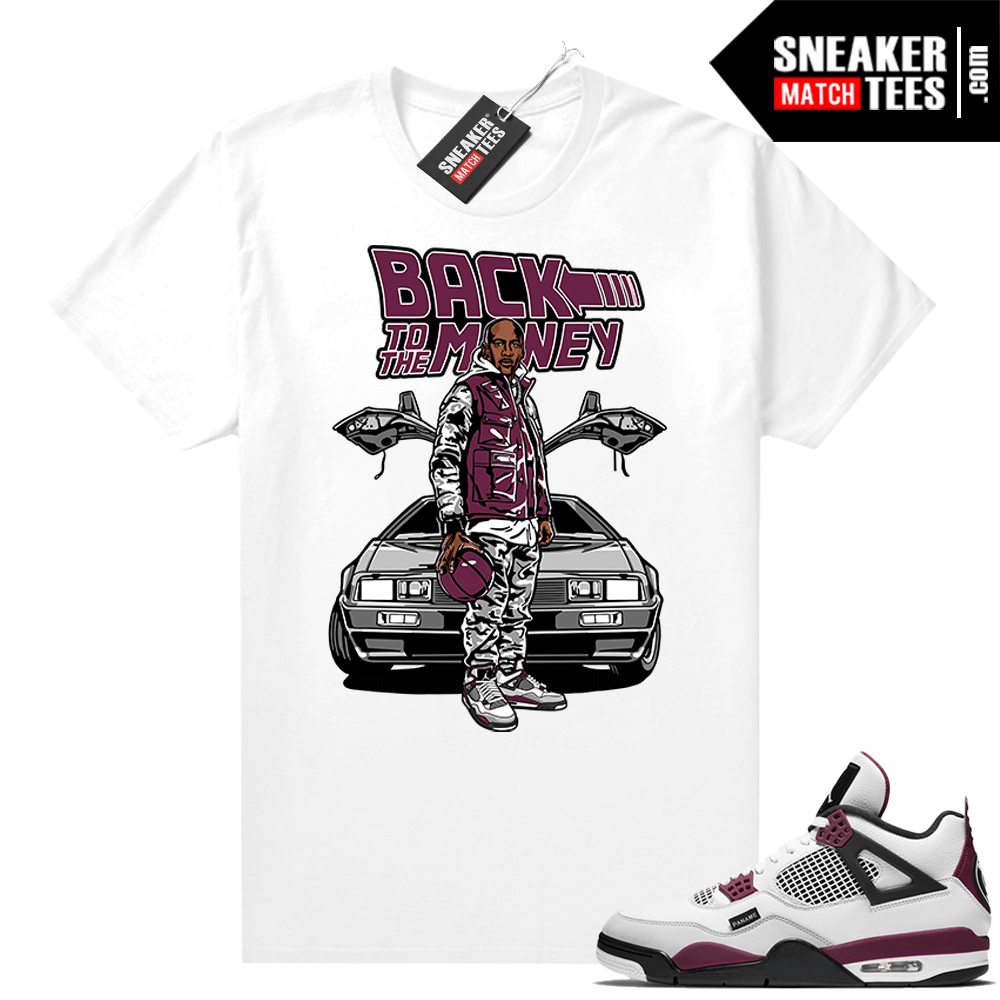 PSG 4s Sneaker Match Tees Back to the Money White
