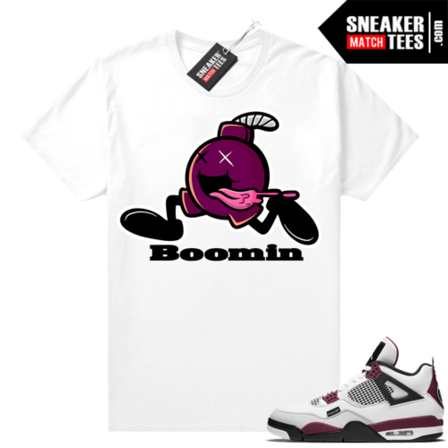PSG 4s Sneaker Match Tees Boomin White
