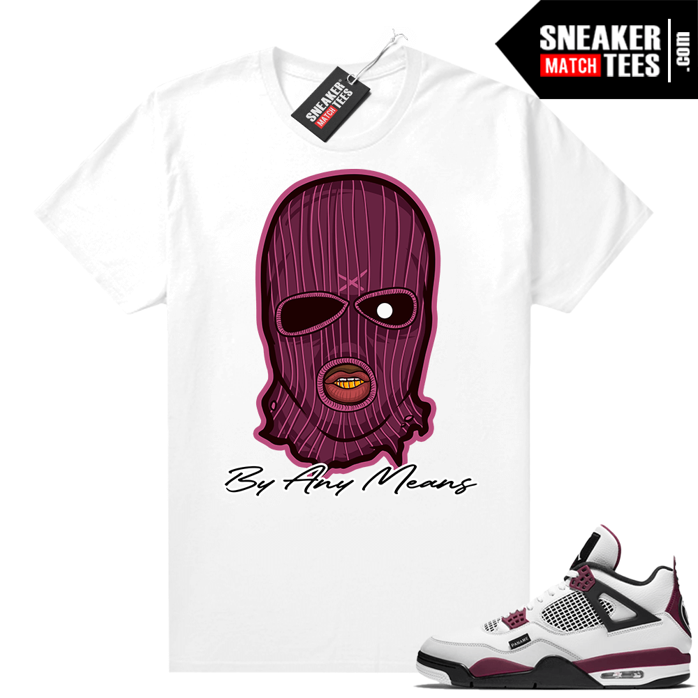 PSG 4s Sneaker Match Tees By Any Means White