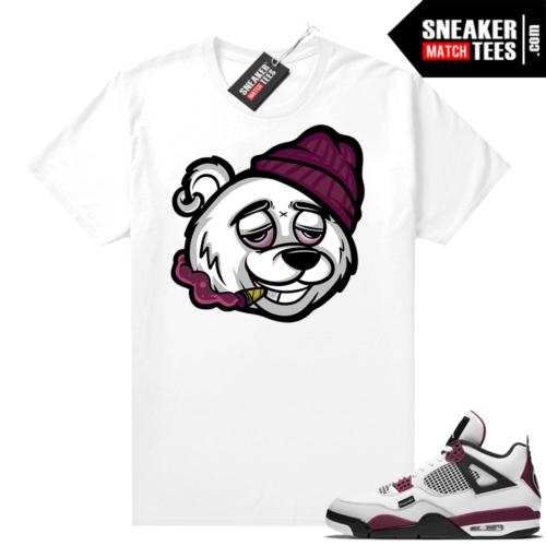 PSG 4s Sneaker Match Tees Cheech Bear White