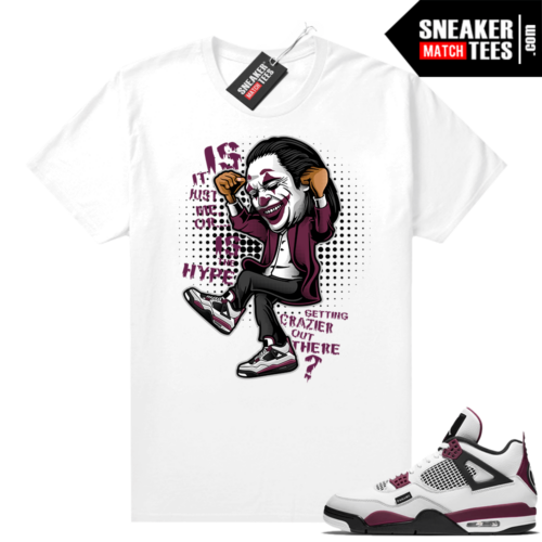 PSG 4s Sneaker Match Tees Crazy Hype White