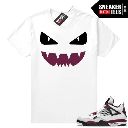 PSG 4s Sneaker Match Tees Designer Monster White