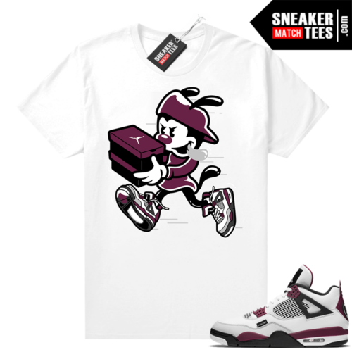 PSG 4s Sneaker Match Tees Double Up White