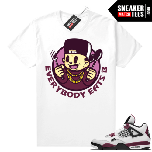 PSG 4s Sneaker Match Tees Everybody Eats B Toon White