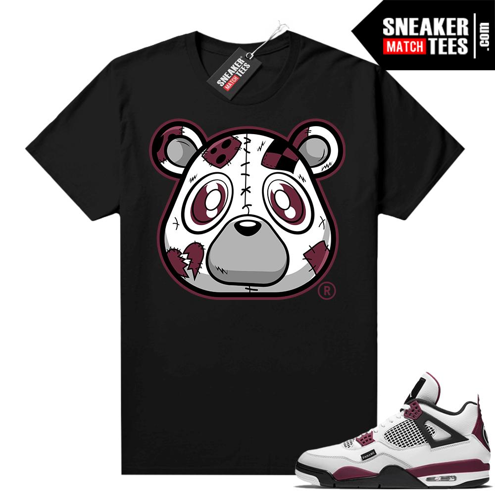 PSG 4s Sneaker Match Tees Heartless Bear Black