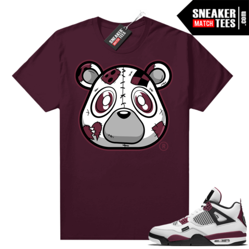 PSG 4s Sneaker Match Tees Heartless Bear Maroon