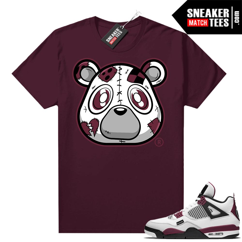 PSG 4s Sneaker Match Tees Heartless Bear Maroon