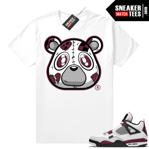 PSG 4s Sneaker Match Tees Heartless Bear White