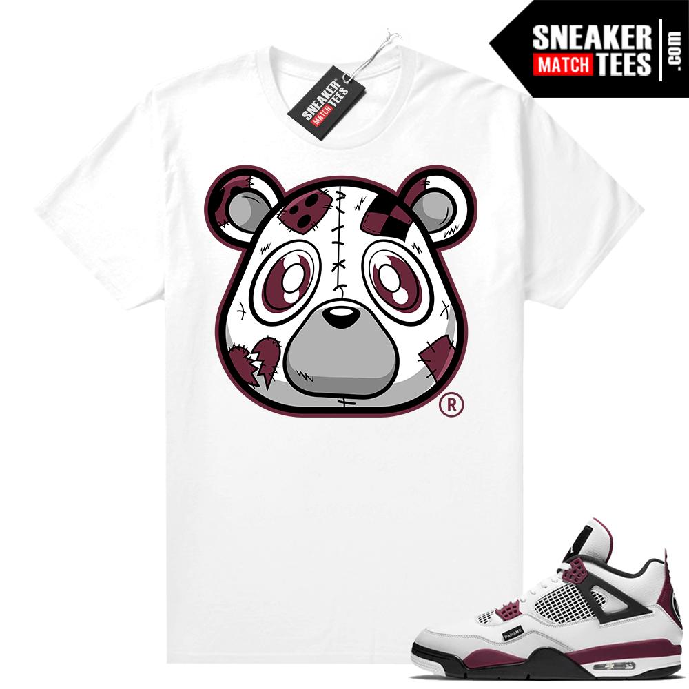 PSG 4s Sneaker Match Tees Heartless Bear White