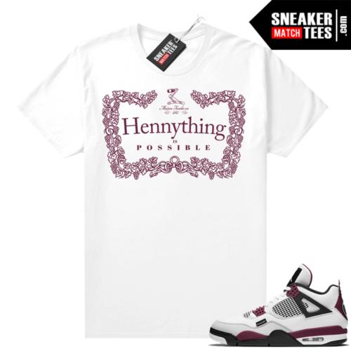 PSG 4s Sneaker Match Tees Hennything White