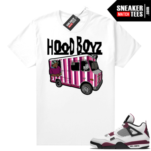 PSG 4s Sneaker Match Tees Hood Boys Big Worm White