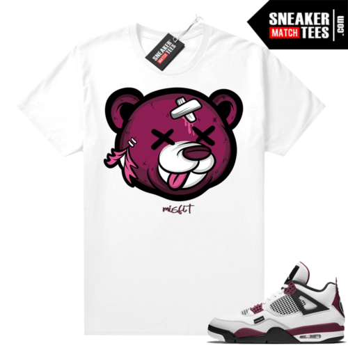 PSG 4s Sneaker Match Tees Hungover Bear White