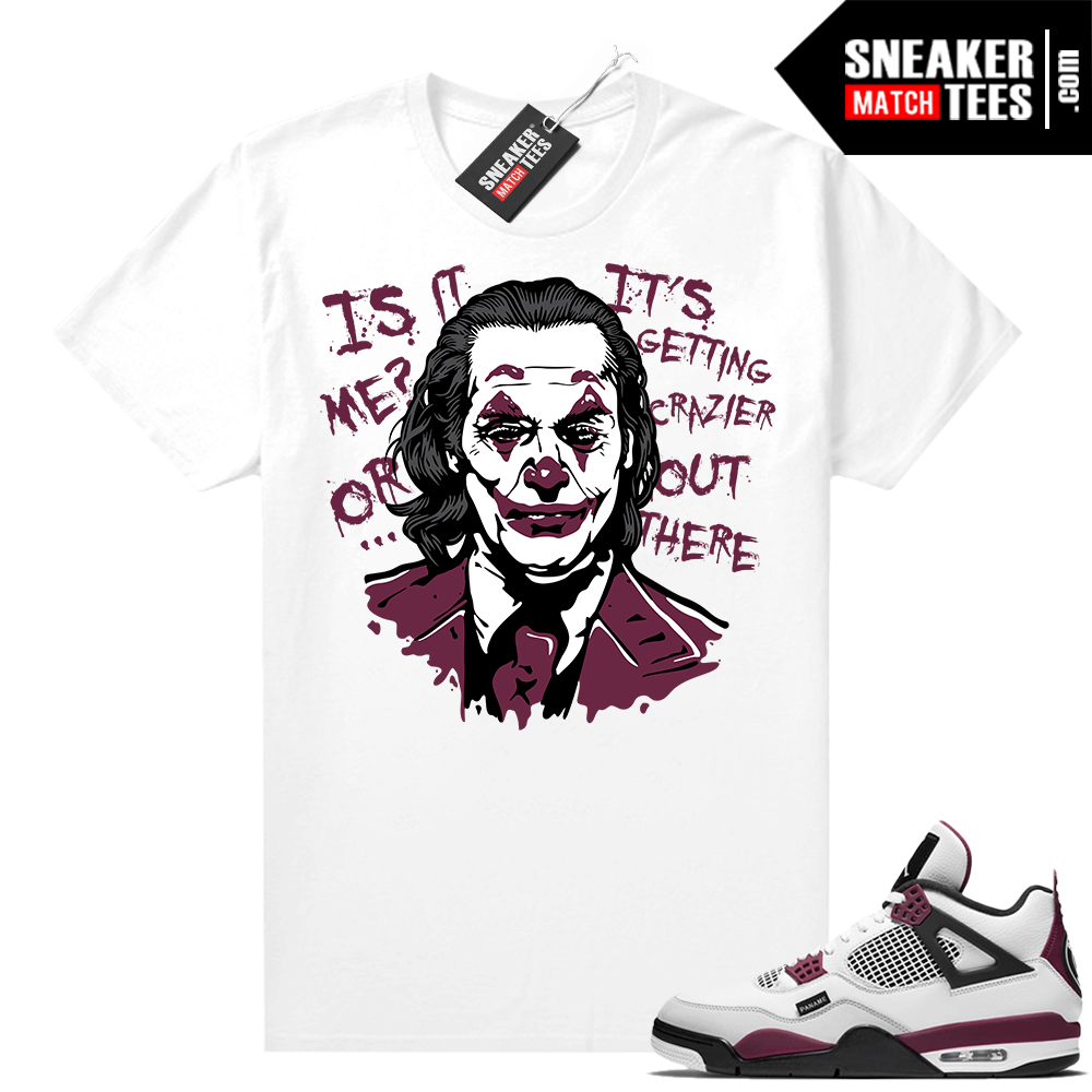 PSG 4s Sneaker Match Tees Joker White