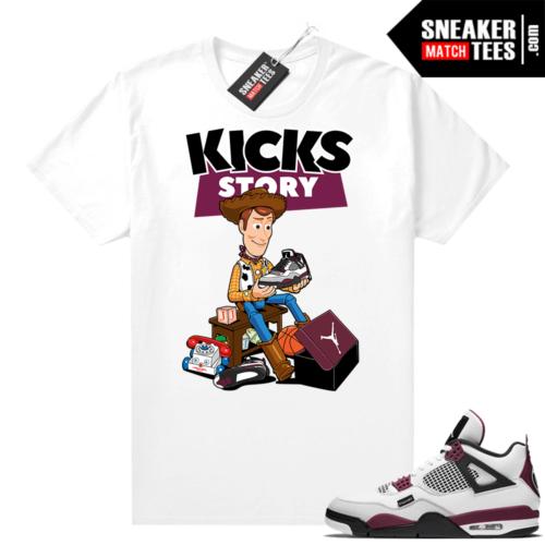 PSG 4s Sneaker Match Tees Kicks Story White