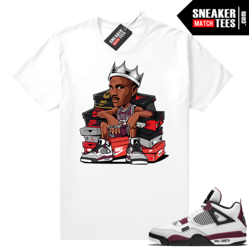 PSG 4s Sneaker Match Tees MJ king White