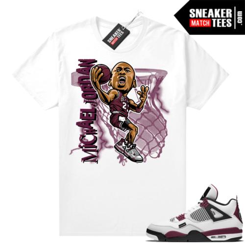 PSG 4s Sneaker Match Tees MJ toon White