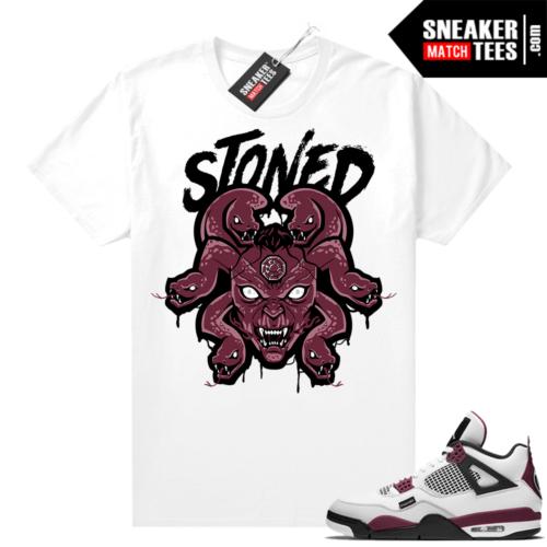 PSG 4s Sneaker Match Tees Medusa Stoned White