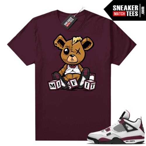 PSG 4s Sneaker Match Tees Misfit Teddy Maroon