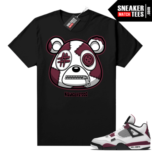 PSG 4s Sneaker Match Tees Misunderstood Bear Black