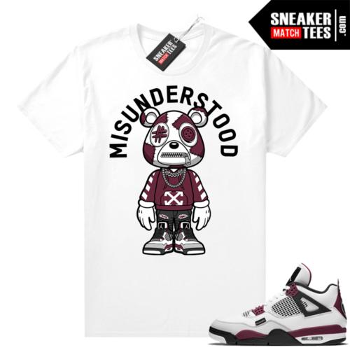 PSG 4s Sneaker Match Tees Misunderstood Bear Toon White