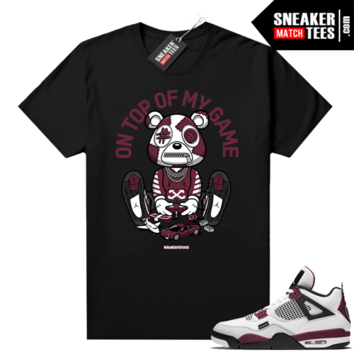 PSG 4s Sneaker Match Tees Misunderstood Bear Top of My Game Black