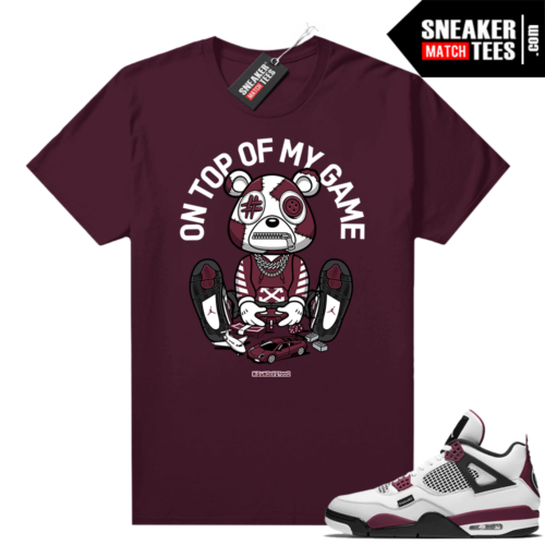 PSG 4s Sneaker Match Tees Misunderstood Bear Top of My Game Maroon