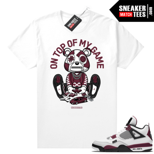 PSG 4s Sneaker Match Tees Misunderstood Bear Top of My Game White