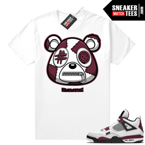 PSG 4s Sneaker Match Tees Misunderstood Bear White