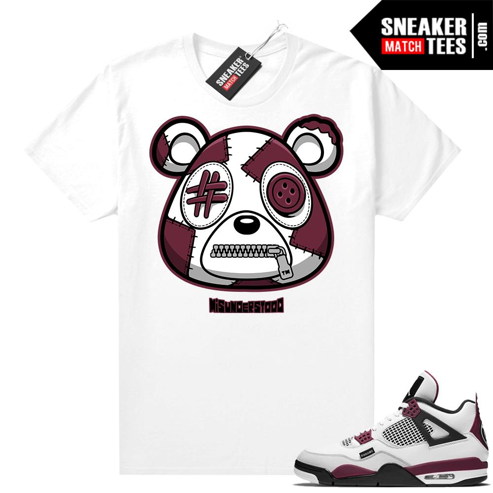 PSG 4s Sneaker Match Tees Misunderstood Bear White