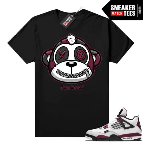 PSG 4s Sneaker Match Tees Misunderstood Monkey Black