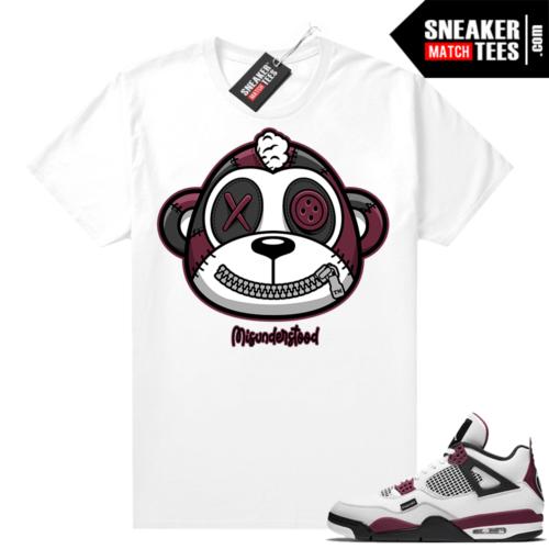 PSG 4s Sneaker Match Tees Misunderstood Monkey White