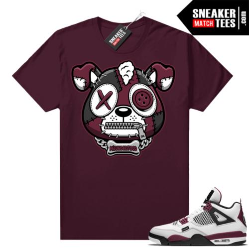 PSG 4s Sneaker Match Tees Misunderstood Puppy Maroon