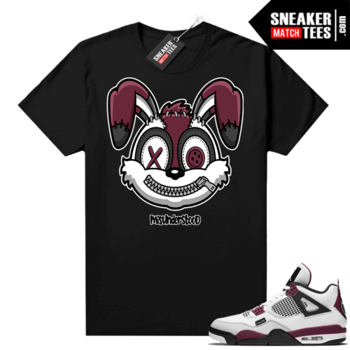 PSG 4s Sneaker Match Tees Misunderstood Rabbit Black