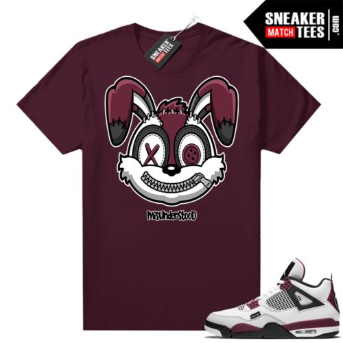 PSG 4s Sneaker Match Tees Misunderstood Rabbit Maroon