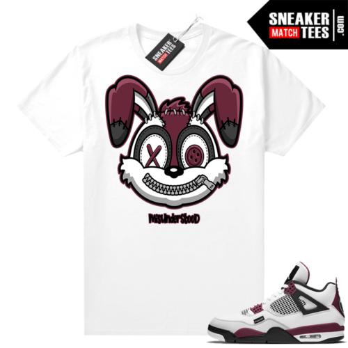PSG 4s Sneaker Match Tees Misunderstood Rabbit White