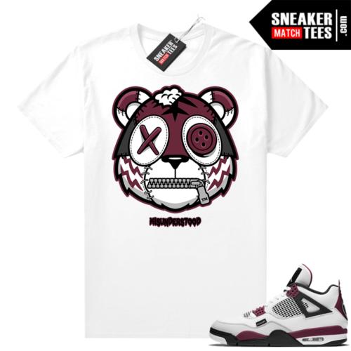 PSG 4s Sneaker Match Tees Misunderstood Tiger White