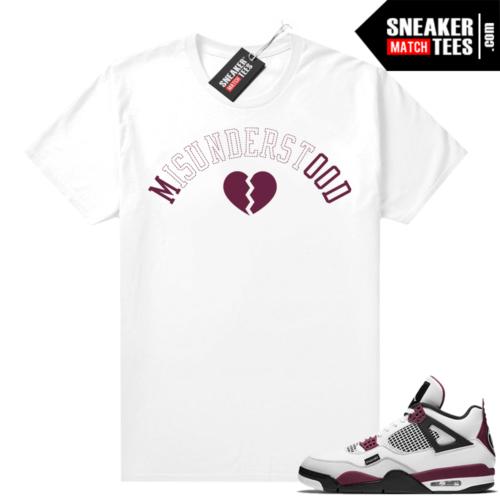 PSG 4s Sneaker Match Tees Misunderstood White