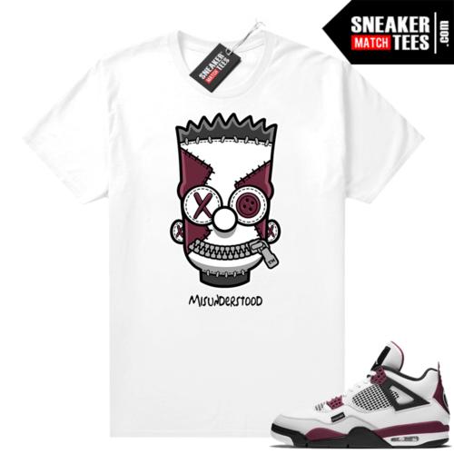 PSG 4s Sneaker Match Tees Misunderstood x Bart White