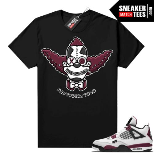 PSG 4s Sneaker Match Tees Misunderstood x Clown Black