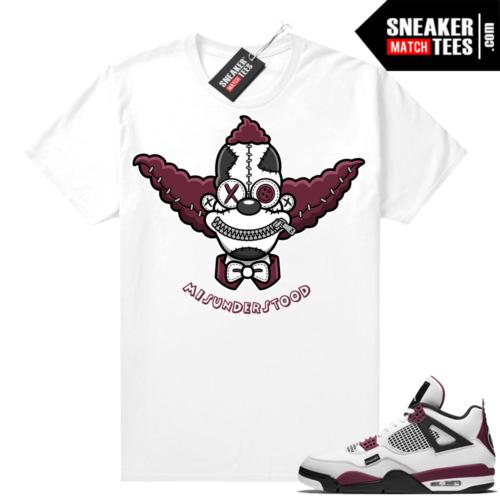 PSG 4s Sneaker Match Tees Misunderstood x Clown White