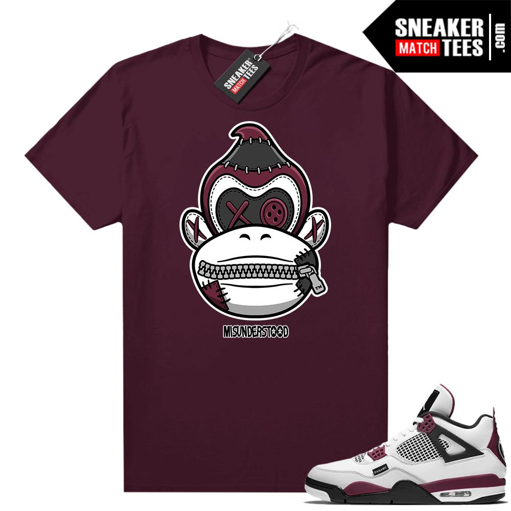 PSG 4s Sneaker Match Tees Misunderstood x Donkey Kong Maroon