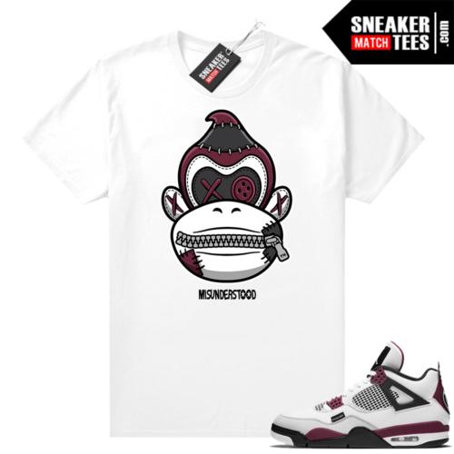 PSG 4s Sneaker Match Tees Misunderstood x Donkey Kong White