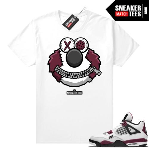 PSG 4s Sneaker Match Tees Misunderstood x Elmo White