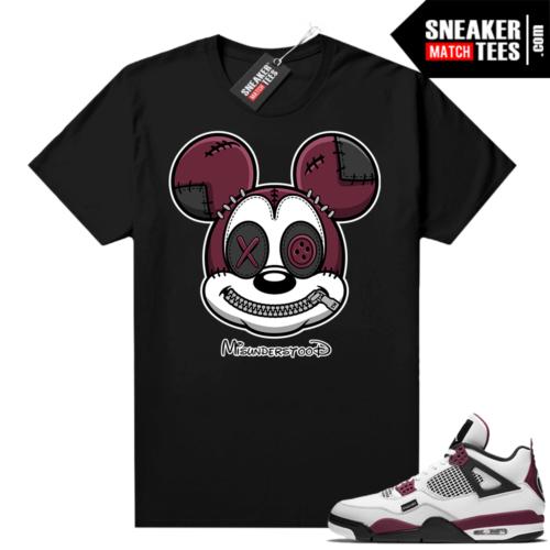 PSG 4s Sneaker Match Tees Misunderstood x Mickey Black