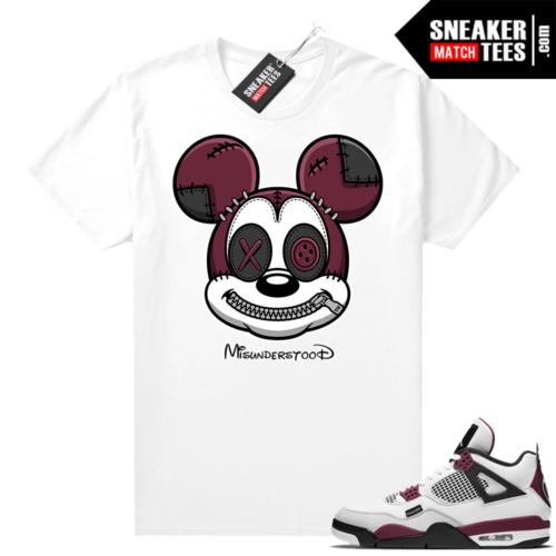 PSG 4s Sneaker Match Tees Misunderstood x Mickey White