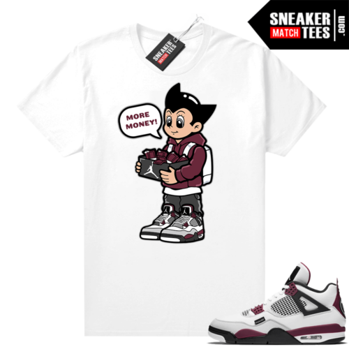PSG 4s Sneaker Match Tees More Shoe Money White