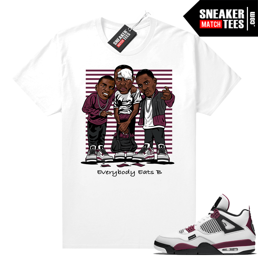 PSG 4s Sneaker Match Tees Paid In Full White